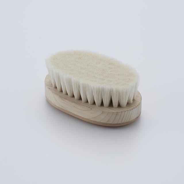 ボディブラシ 身体用 小判型 山羊毛