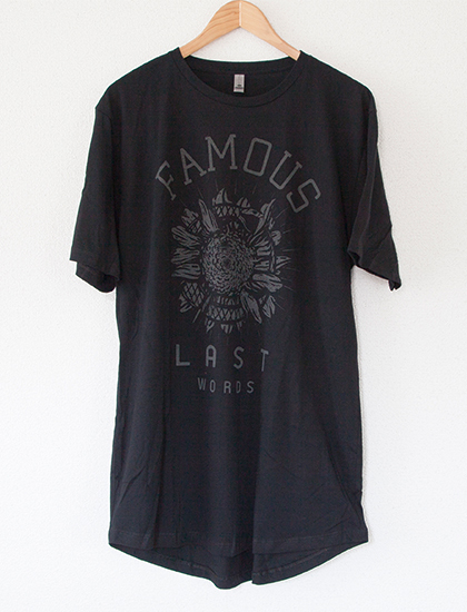 【FAMOUS LAST WORDS】Snake Sunflower T-Shirts (Black)