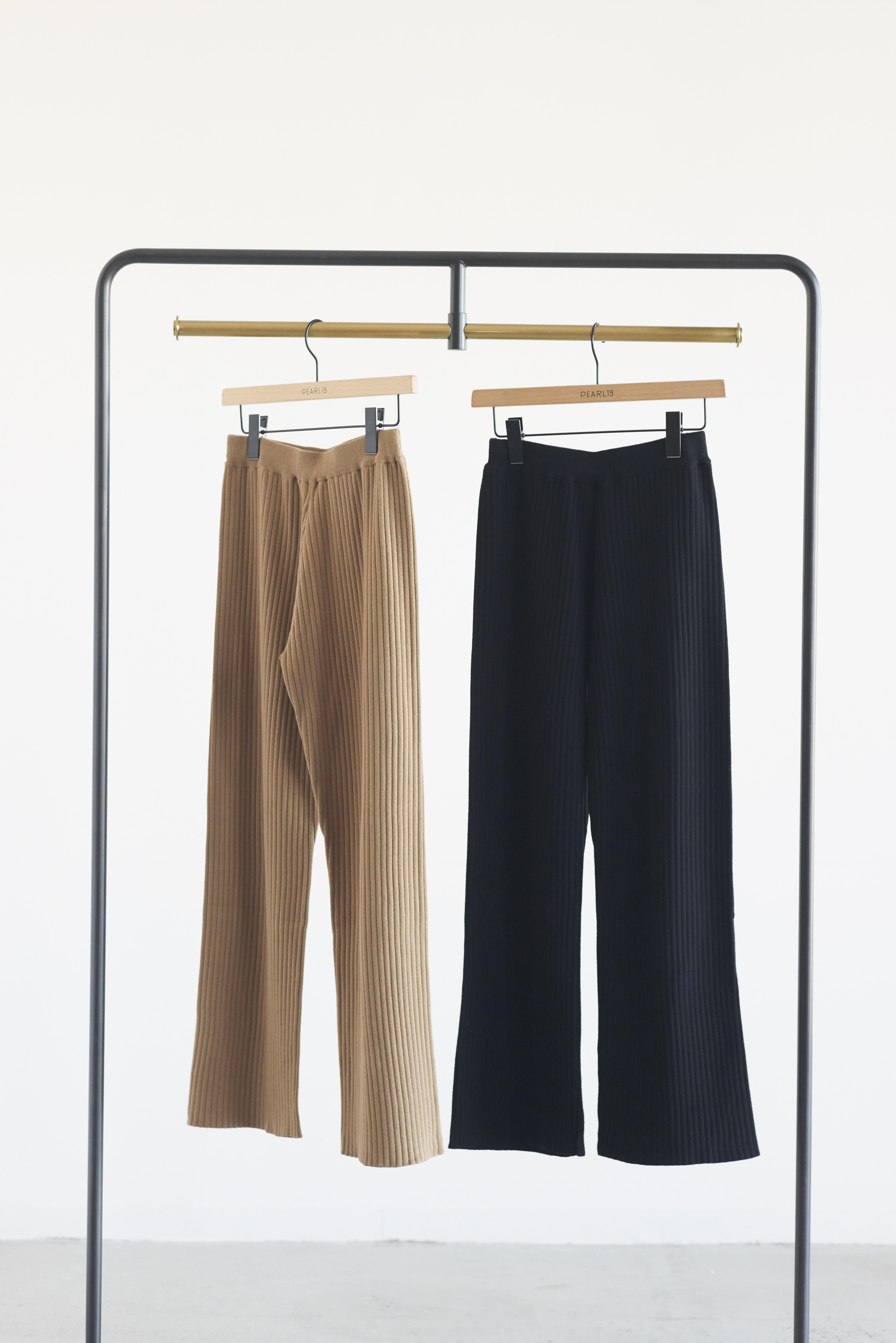 Audrey and John Wad Straight knit pants