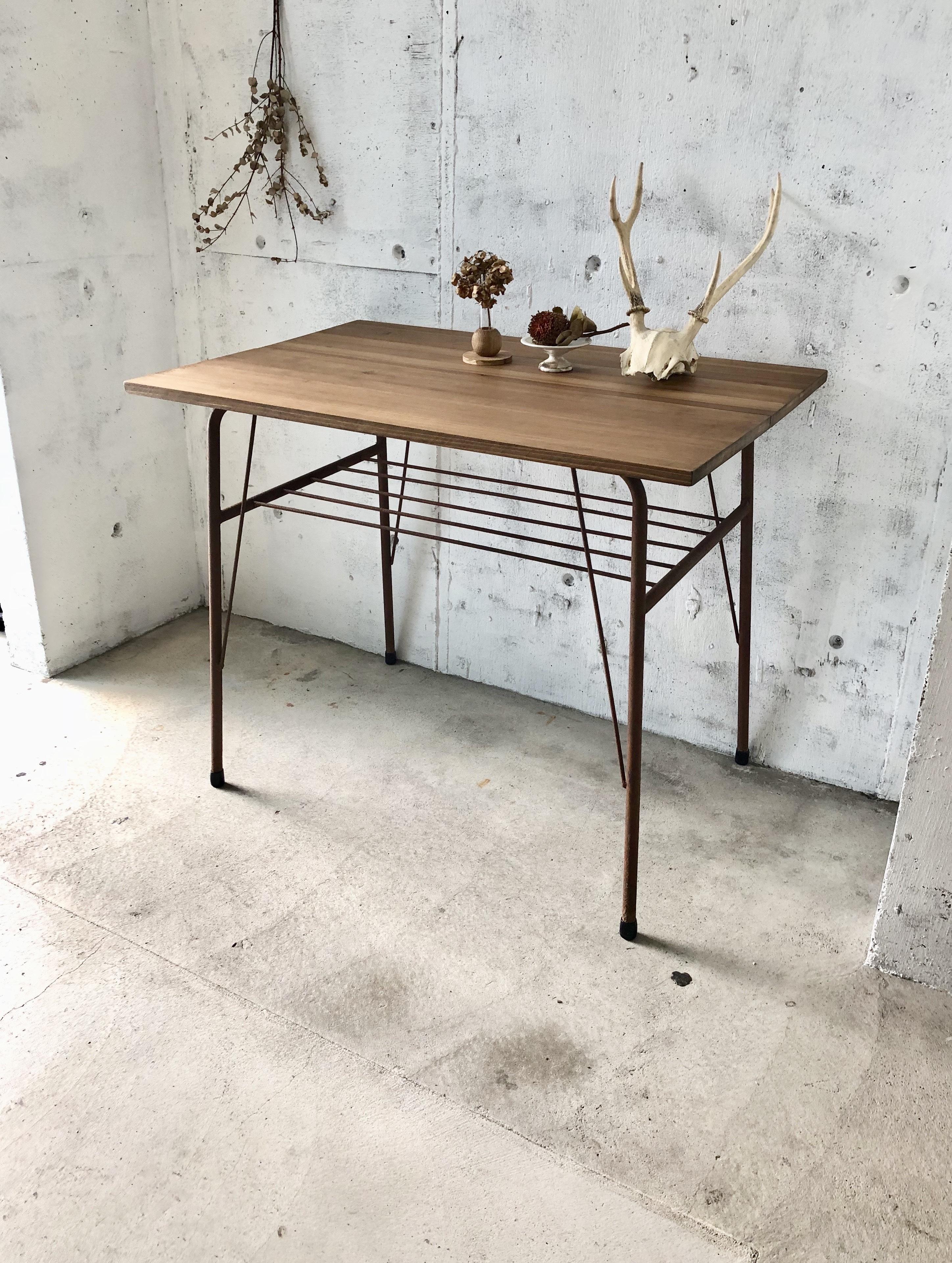 サビ脚のワークテーブル[古家具]