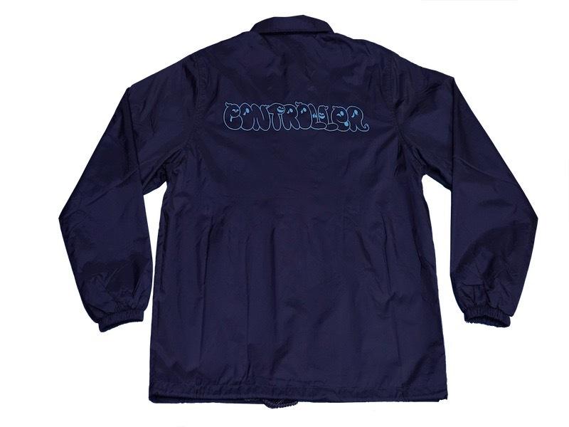 CONTROLLER / コントローラー ロゴ コーチジャケット (ネイビー)