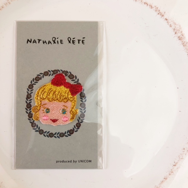 Nathalie Lete Applique Girl アイロンアップリケ・ワッペン