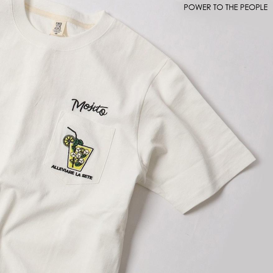 MOJITO柄ポケット刺繍Tシャツ NO0512139