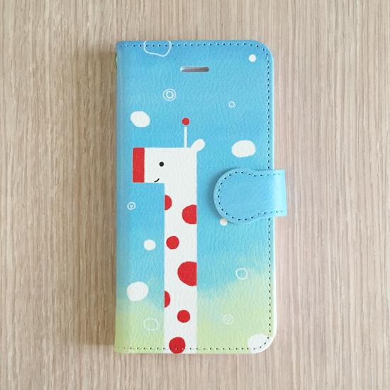 手帳型スマホケース(iPhone) │ キリンの空