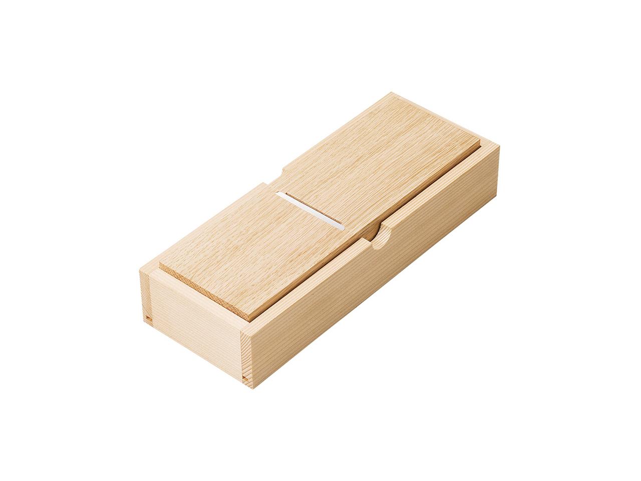 鰹節削り器 「薄型ミニ鰹箱(蓋なし)」 すべり止めシール付(shop限定セット)