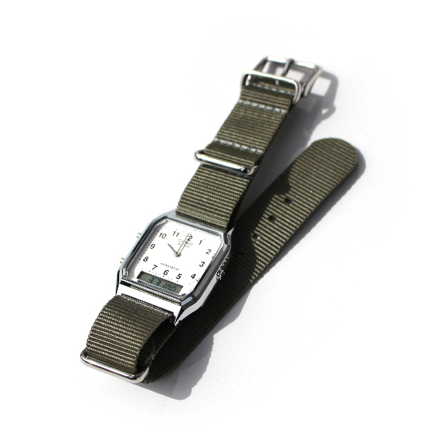 CASIO BASIC WATCH DIGI-ANA 05 / NATO-type Strap / Grey