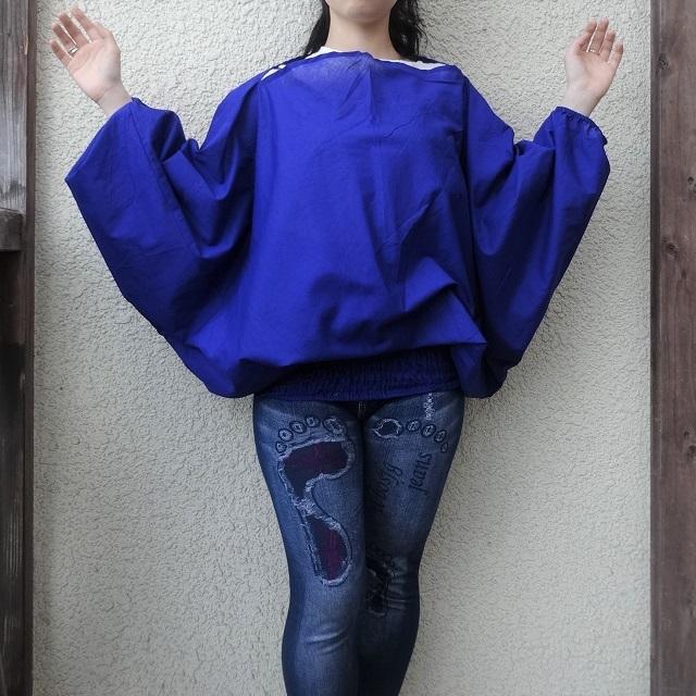 tri-cotblue コットン トリスタイル(ブルー)