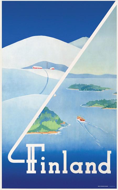 ポストカードL 12x18cm 「フィンランドの夏と冬」