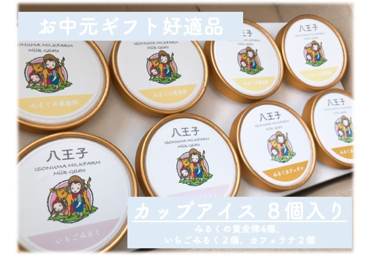 【冷凍品につき混載不可】みるくの黄金律使用のカップアイス3種詰め合わせ