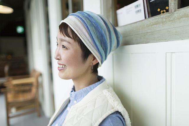 【送料無料】こころが軽くなるニット帽子amuamu|新潟の老舗ニットメーカーが考案した抗がん治療中の脱毛ストレスを軽減する機能性と豊富なデザイン NB-6546|ジュエルシリーズ - 画像5