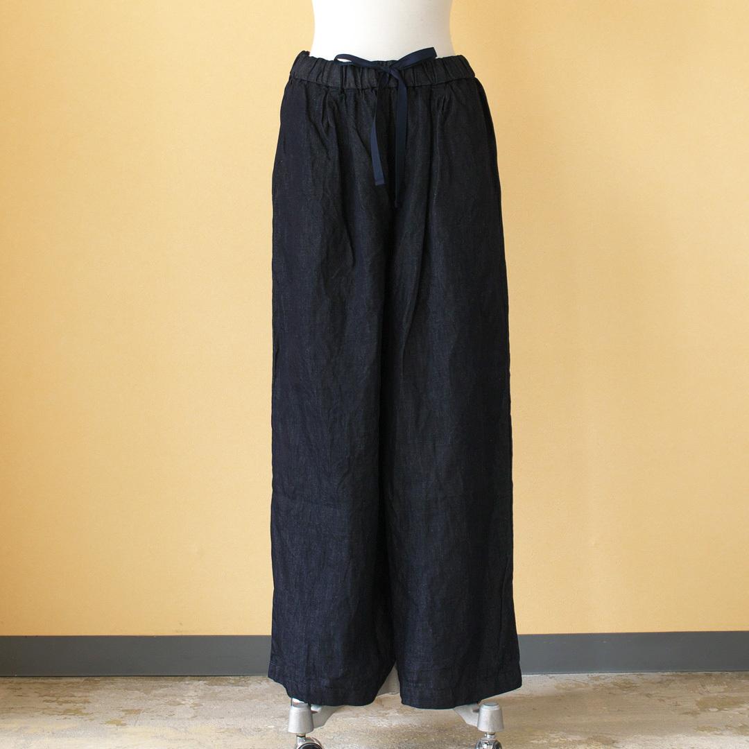 Gauze# ガーゼ G227 light denim roomy long pant ライトデニムルーミーロングパンツ・インディゴ