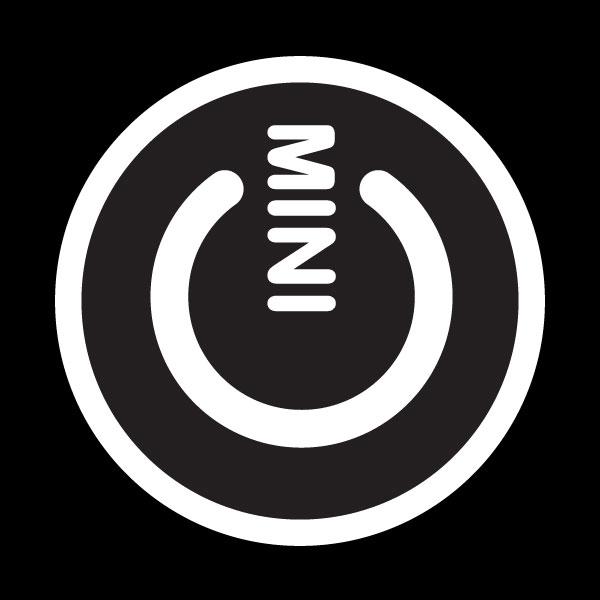 ゴーバッジ(ドーム)(CD1022 - MINI POWER BLACK) - 画像1