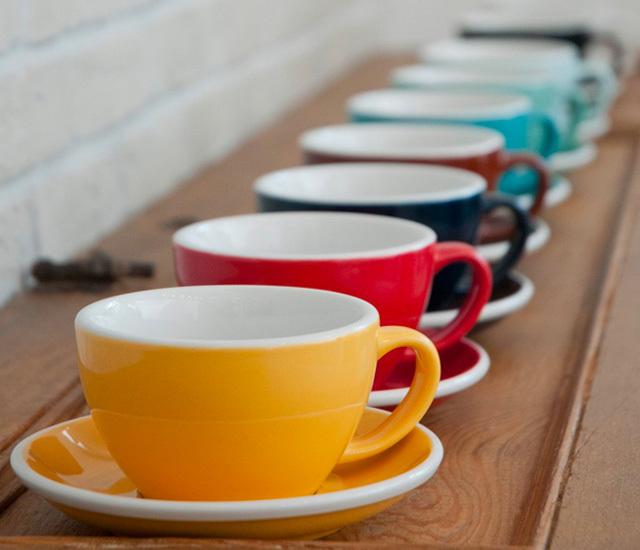 【業務用・6客セット】Loveramics(ラブラミックス) 200ml cappucino cup egg カップ&ソーサ―付き