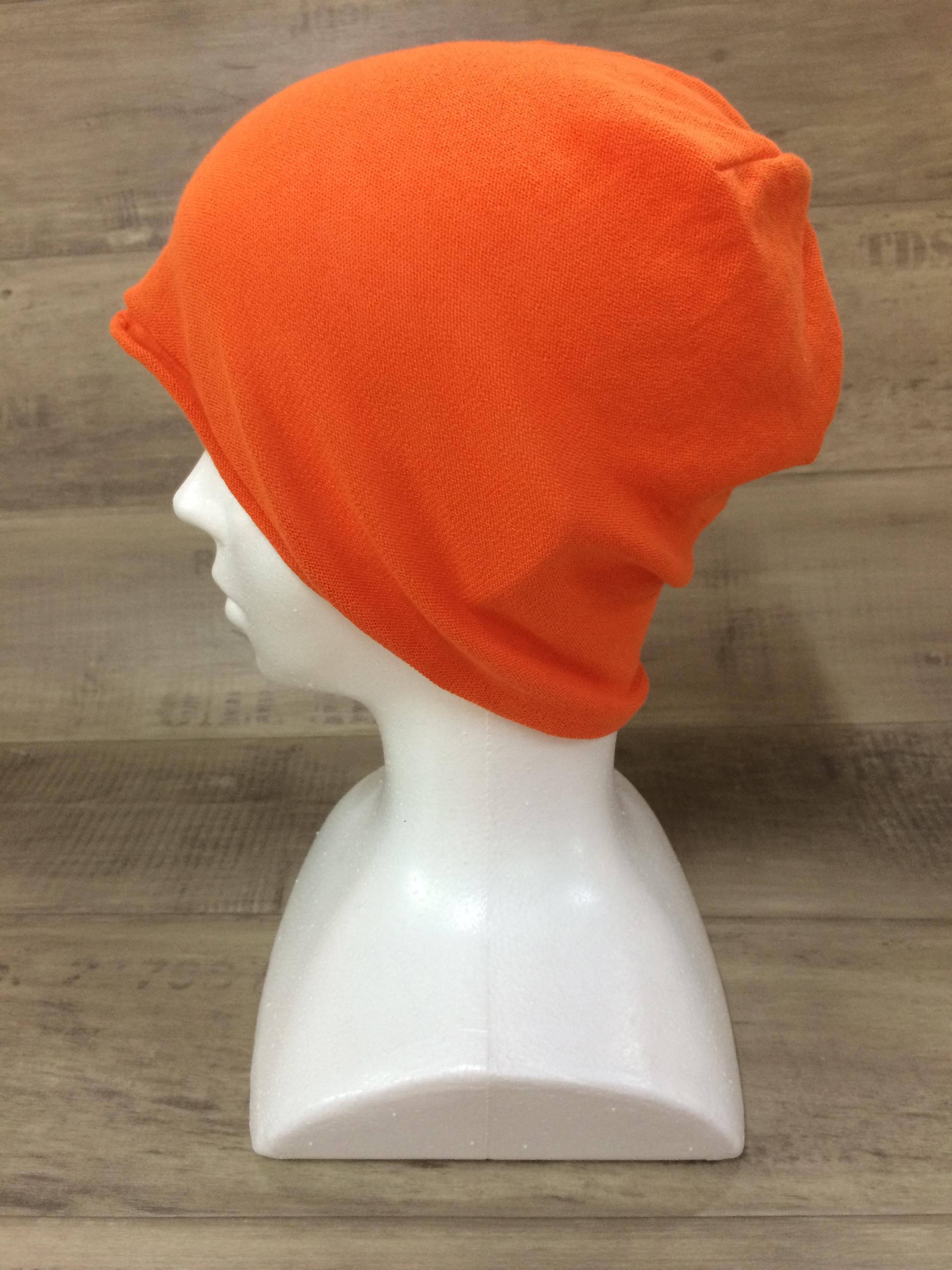 【送料無料】こころが軽くなるニット帽子amuamu|新潟の老舗ニットメーカーが考案した抗がん治療中の脱毛ストレスを軽減する機能性と豊富なデザイン NB-6060|赤橙(あかだいだい)