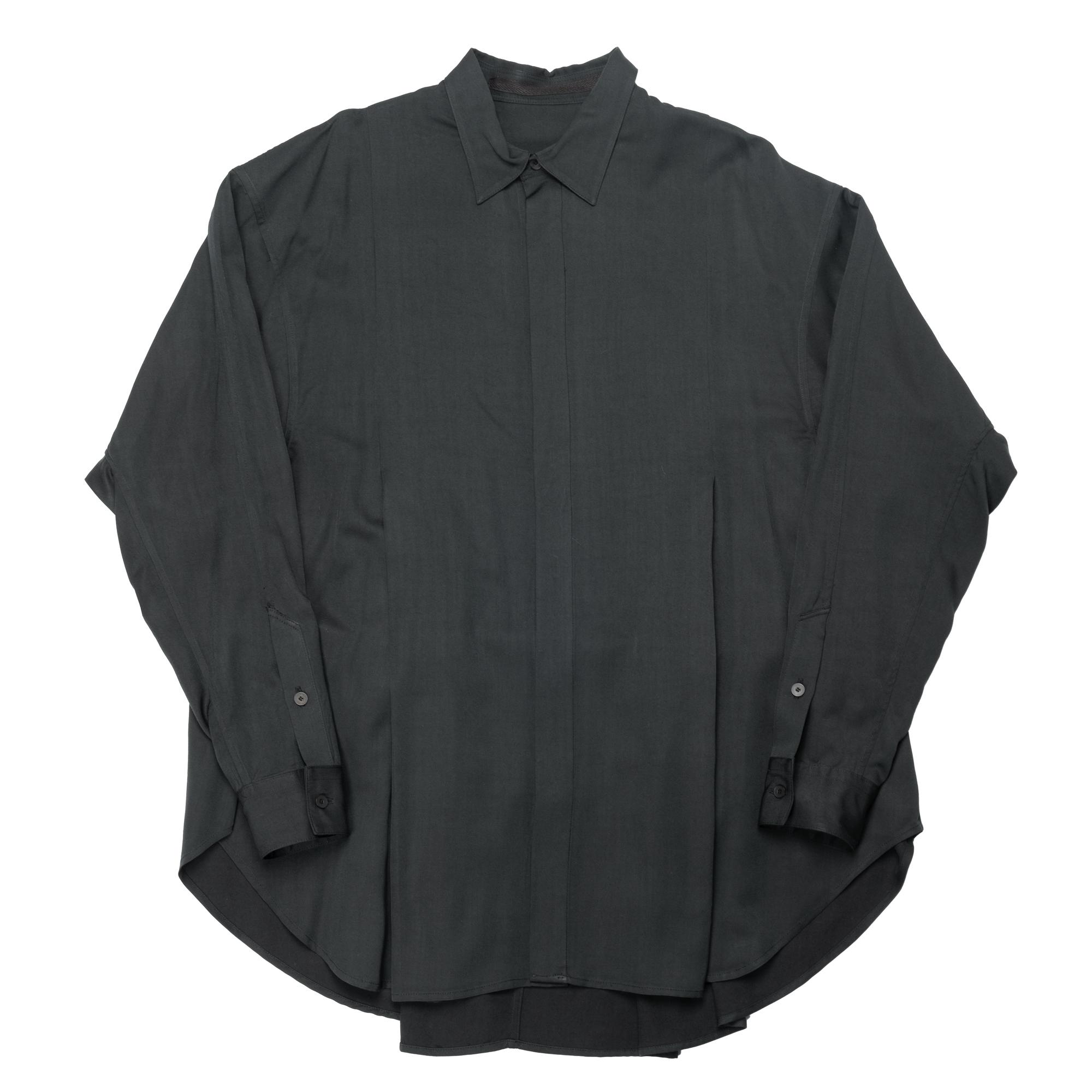 647SHM2-DARK GREEN / タックドワイドシャツ
