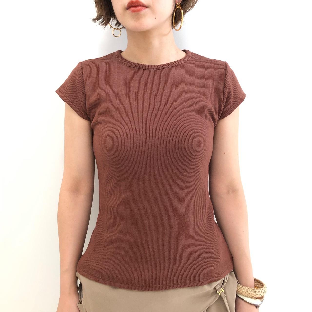 【 anana 】- f100-aa - リブニットTeeシャツ