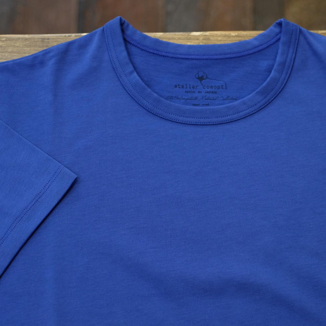 atelier comopti 究極のTシャツ ロイヤルブルー ステラ・コンフリクト天竺