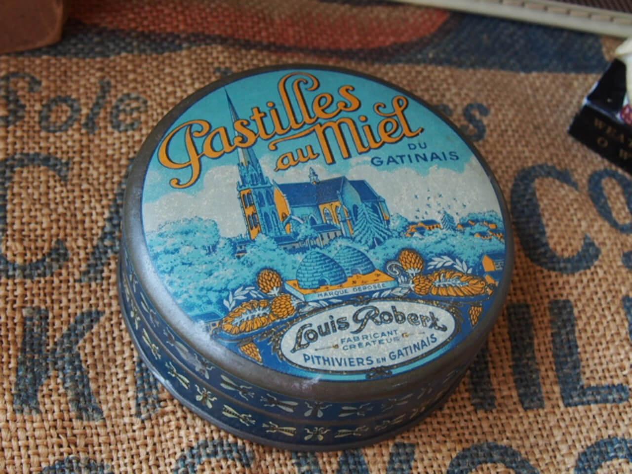 フランスアンティーク パスティーユ缶