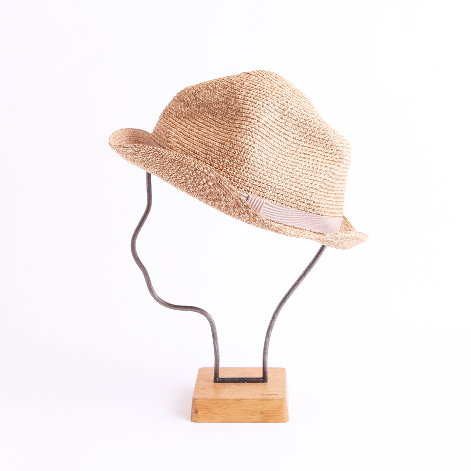 mature ha./BOXED HAT 103 mixbrown×pink beige