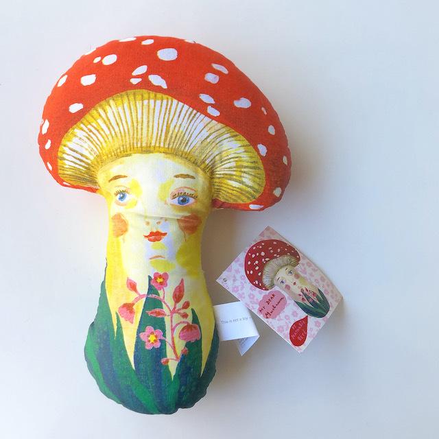 "Nathalie Lete ""Mushroom"" ナタリーレテ きのこ マッシュルーム 人形 ドール"