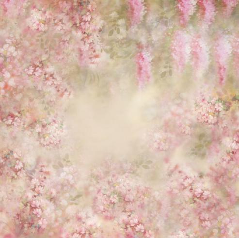 ニューボーンフォト背景お花ピンク120cmX120cm F-1475