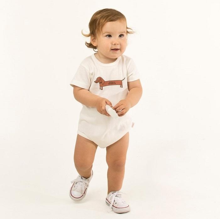 Tiny cottons IL BASSOTTO body(white)