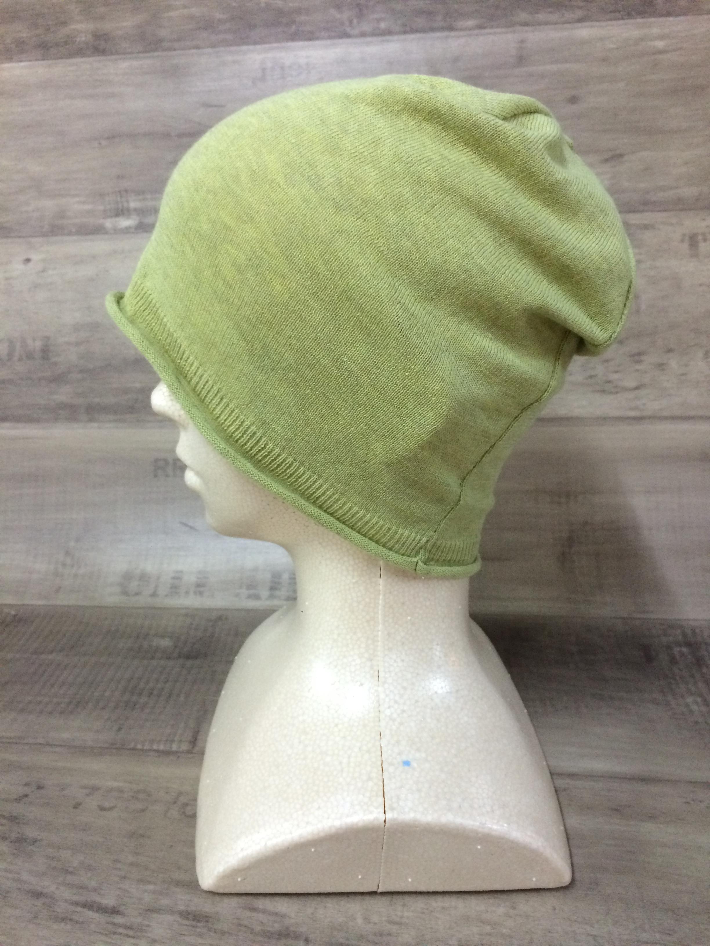 【送料無料】こころが軽くなるニット帽子amuamu|新潟の老舗ニットメーカーが考案した抗がん治療中の脱毛ストレスを軽減する機能性と豊富なデザイン NB-6058|ピスタチオ <オーガニックコットン アウター>