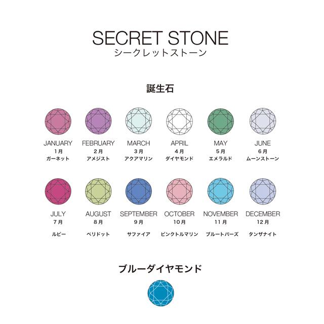 シークレットストーン 誕生石・ブルーダイヤモンド