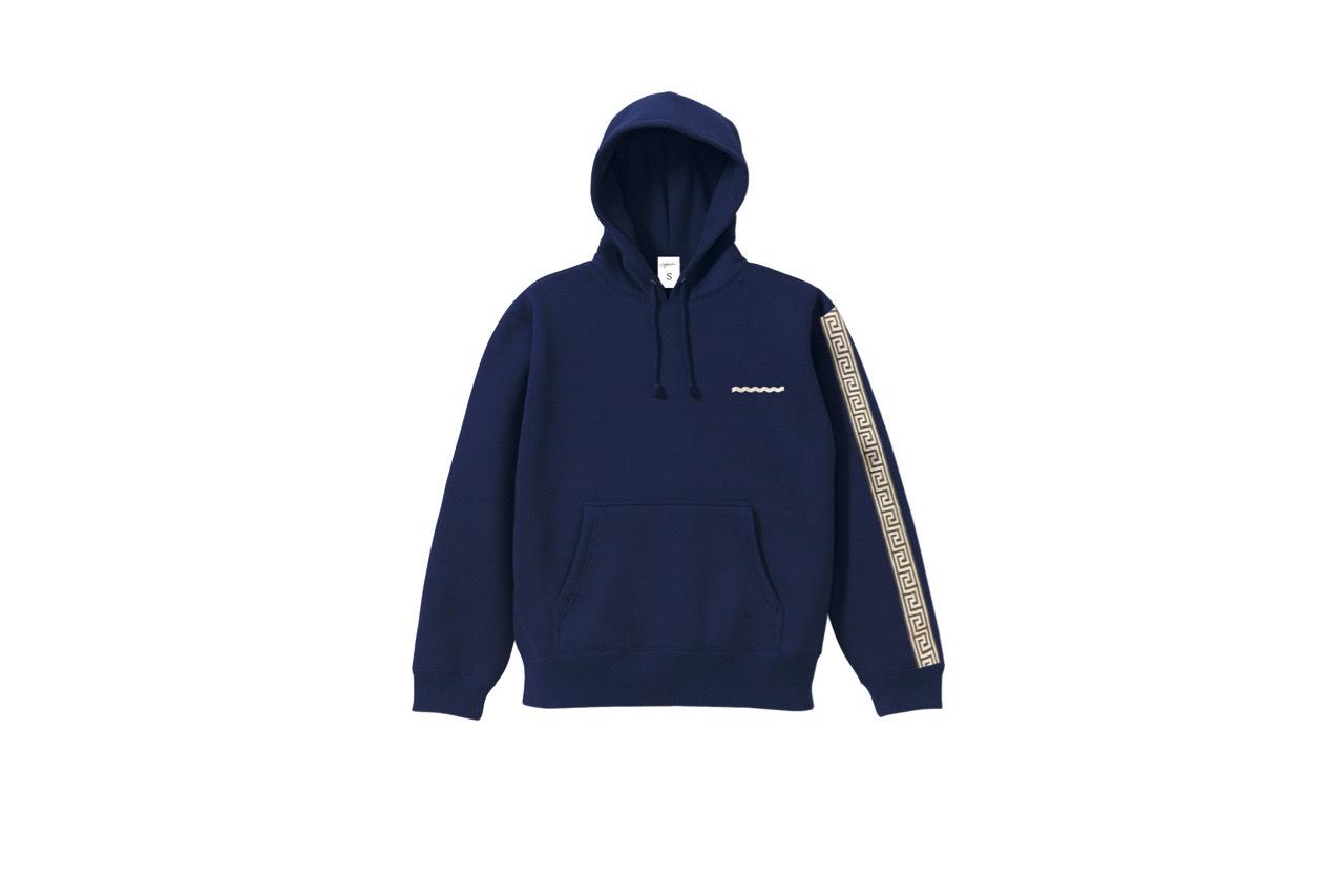 coguchi Clogo long line hoodie (NVY)