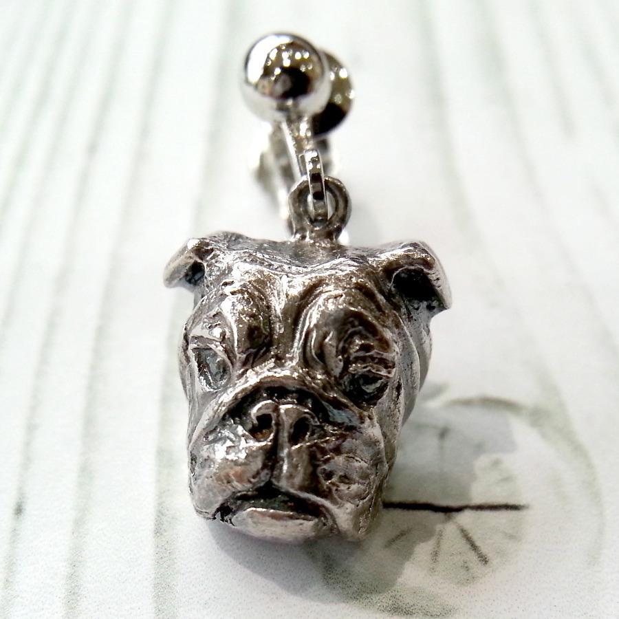 E・ブル(Sサイズ)silver925 & イヤリング・真鍮生地ロジウムカラー(ペア)