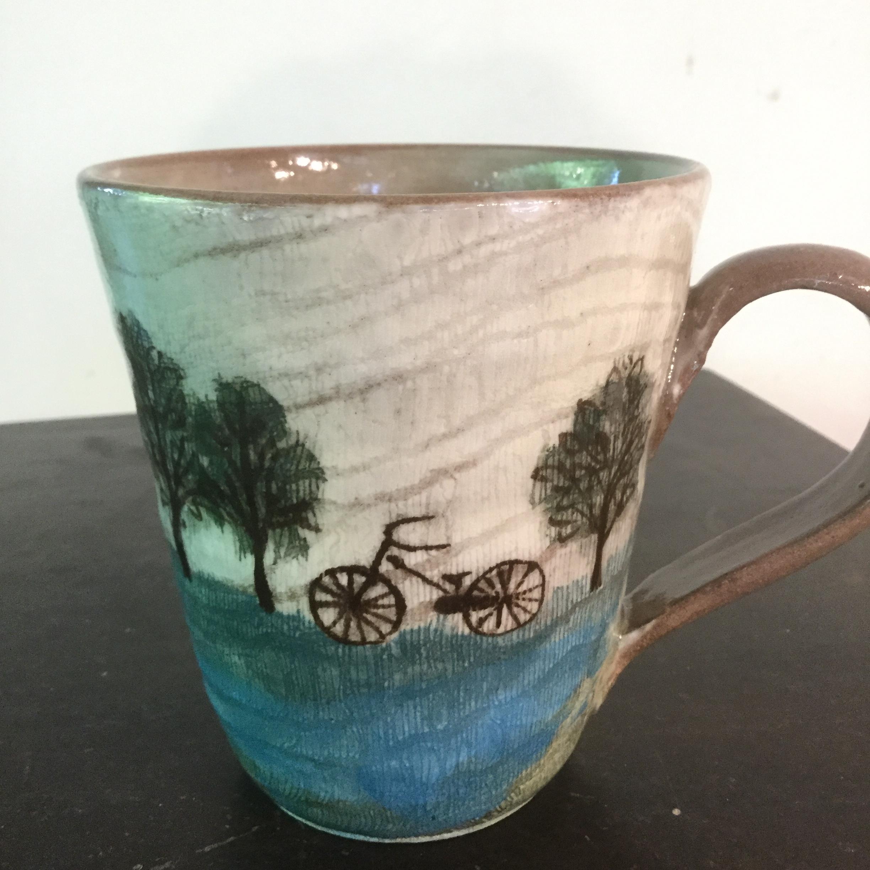 西美紀 / 草原と自転車シリーズ 大ぶりマグ