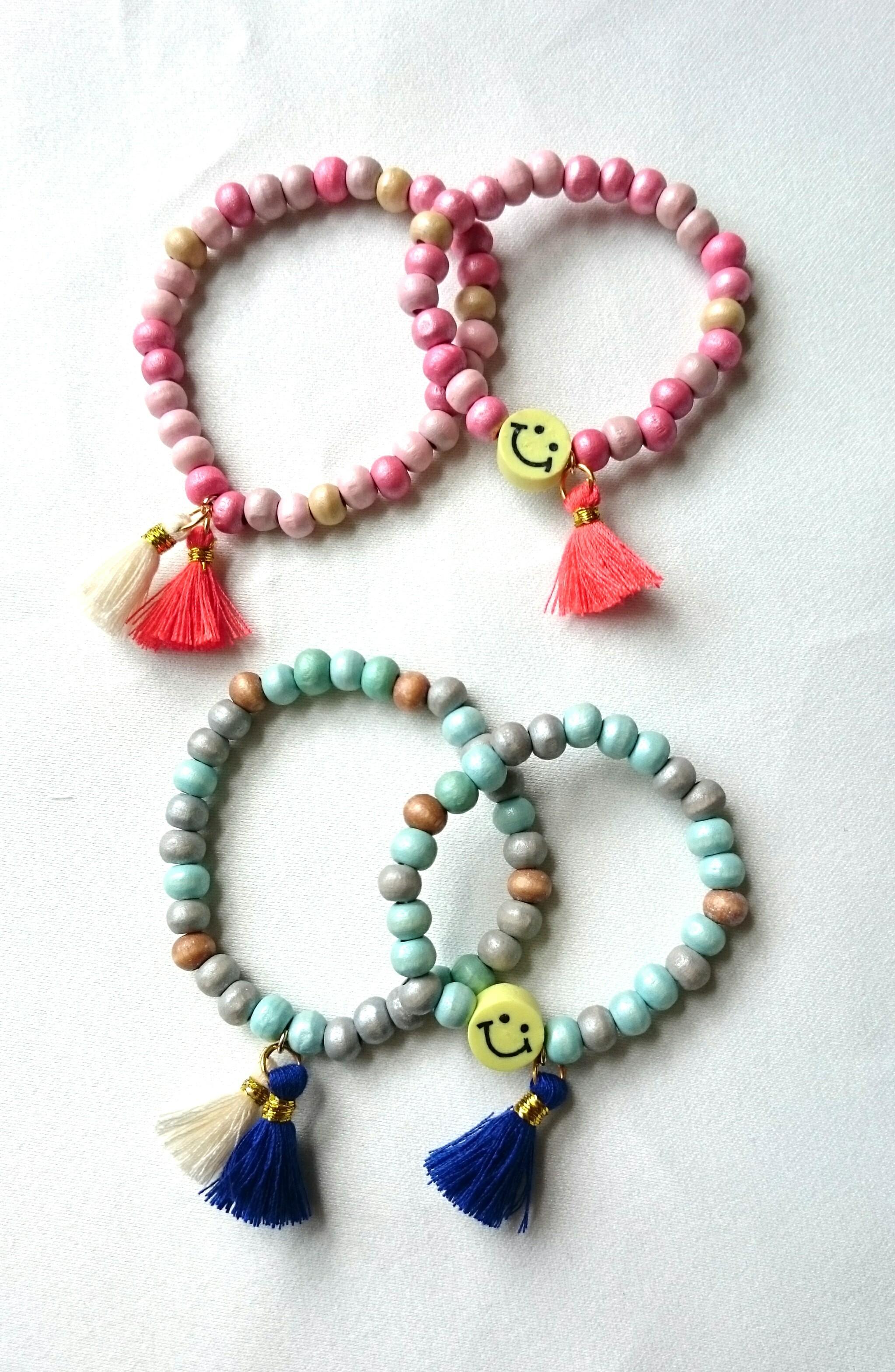 【再販】for mama&kids wood beads bracelet