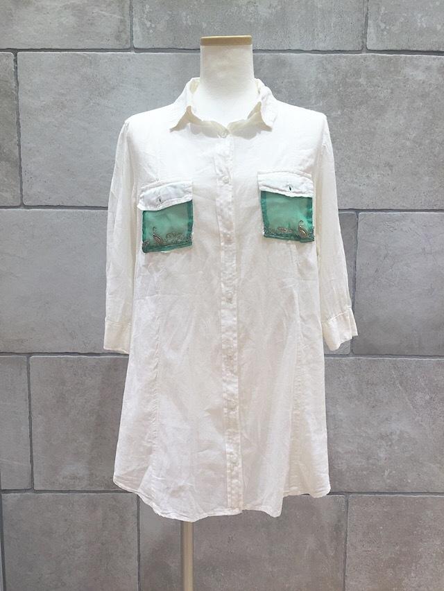 drm-024 柔らか綿の七分袖ロングカットソー