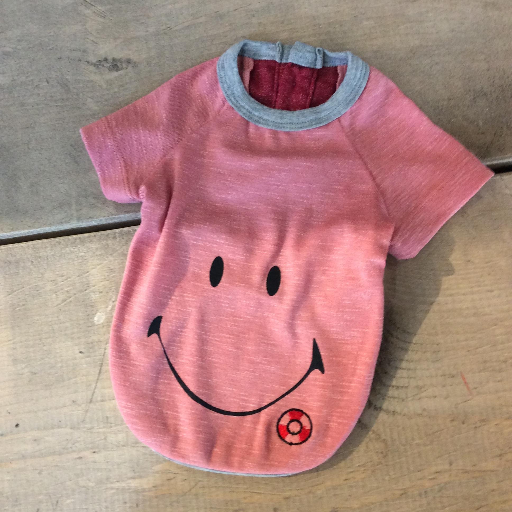 スマイル ラグランスリーブ Tシャツ   さくらカラー