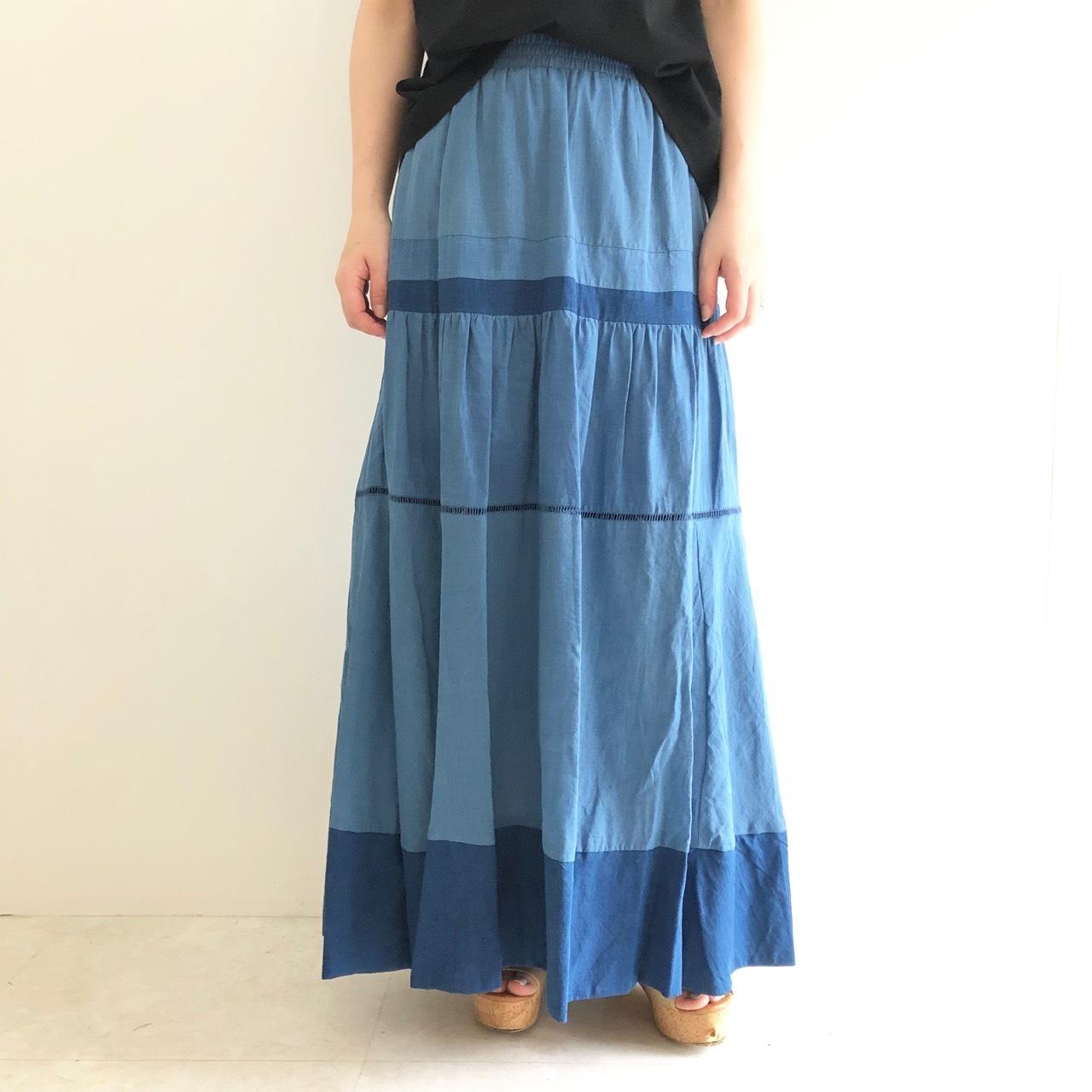 【CYNICAL】インディゴロングスカート