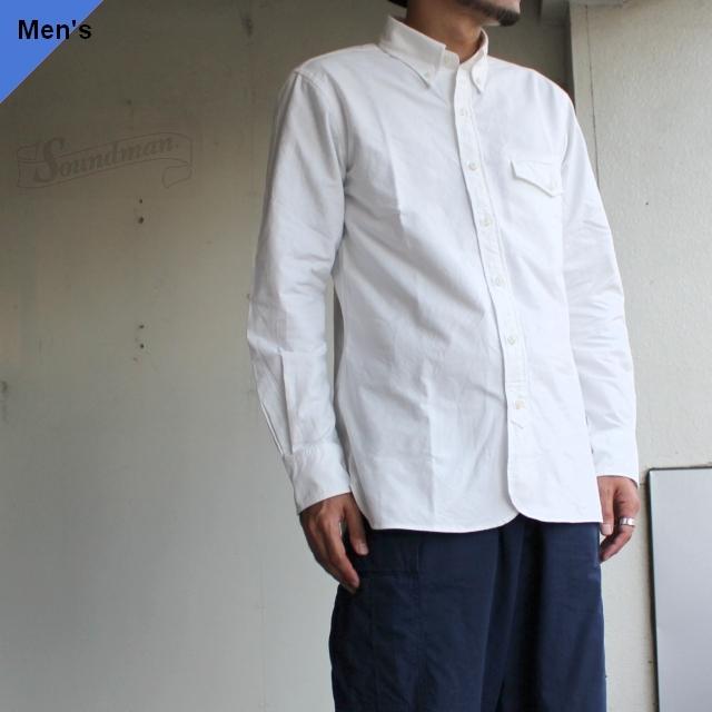 Soundman オックスフォードBDシャツ Boston 215M-965O ホワイト