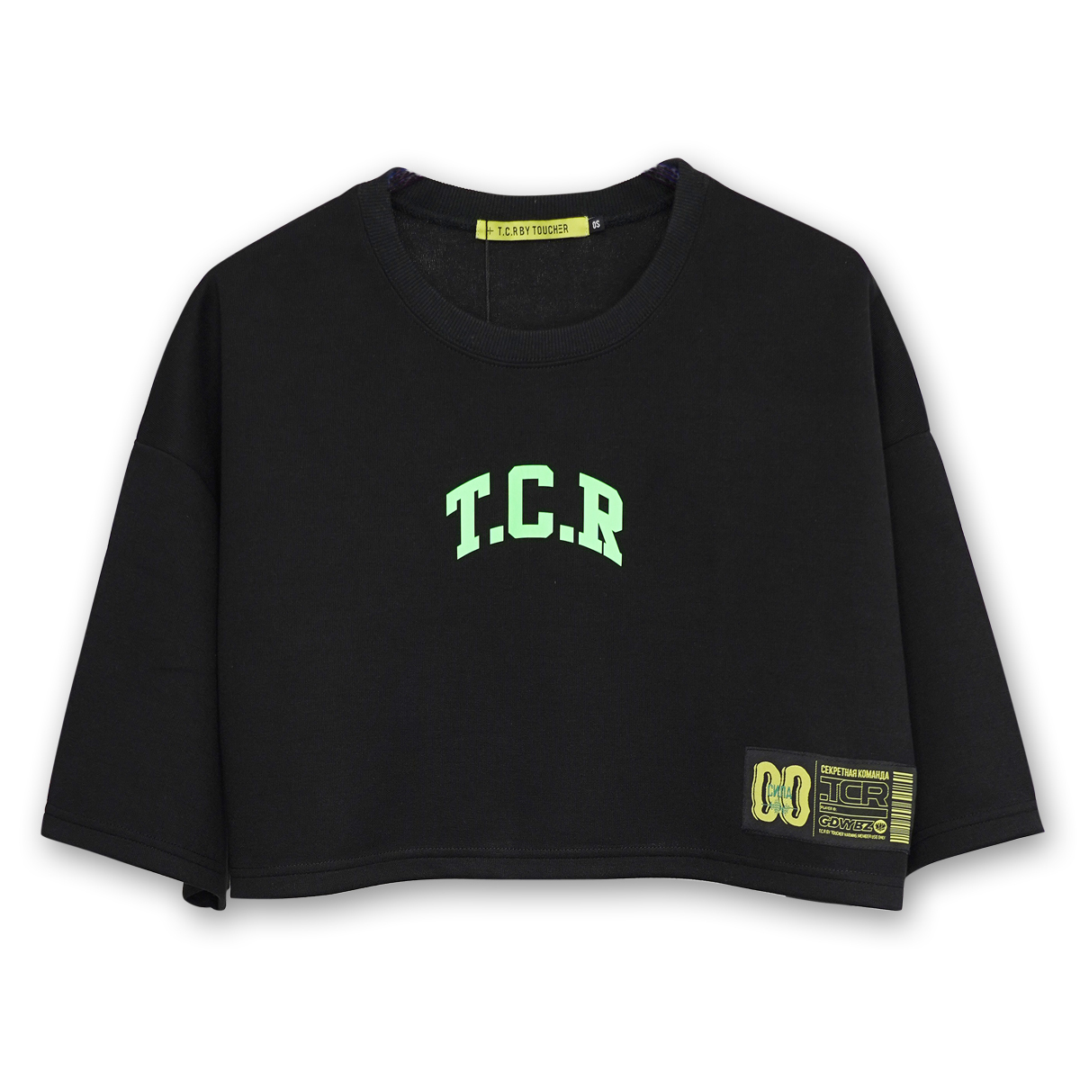 TCR SHORT LENGTH TEE - BLACK