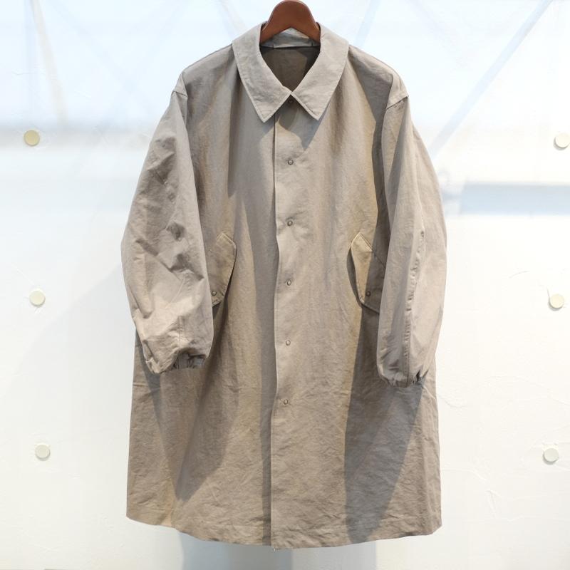 KUON(クオン) 綿和紙 シングルコート カーキ(グレー)