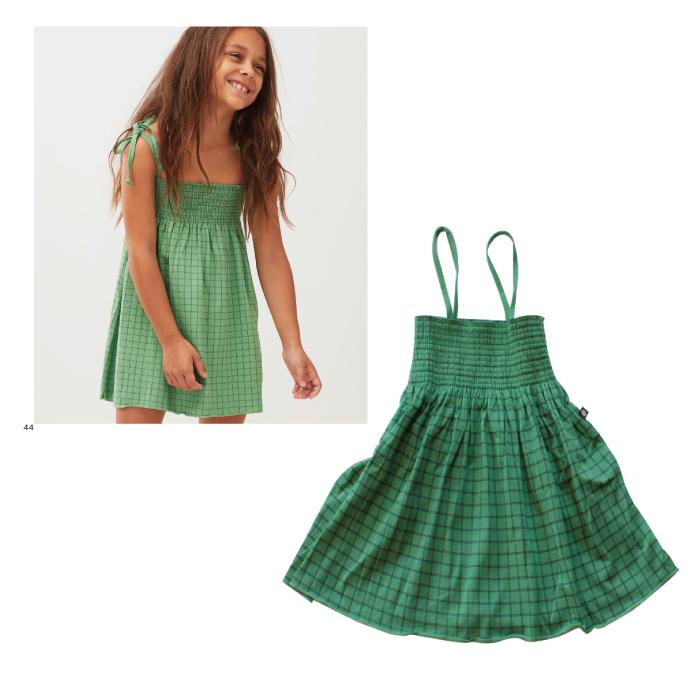 Oeuf smock dress / green (4Y,6Y)