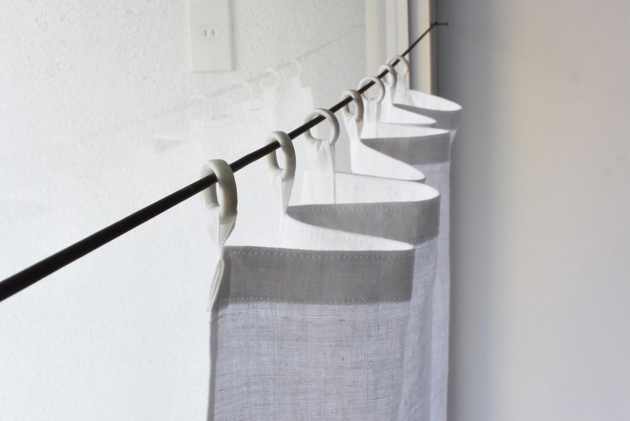 白磁リングの古布カーテン④
