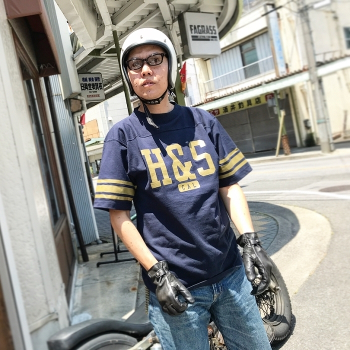 HIDEANDSEEK(ハイドアンドシーク) / FOOTBALL S/S SHIRT(18SS)(HC-050218)(フットボールシャツ)