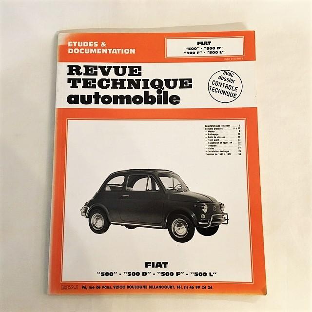Revue technique Automobile Fiat 500-500D-500 F-500/1957-1972【一冊のみ】【Used books】【税込価格】