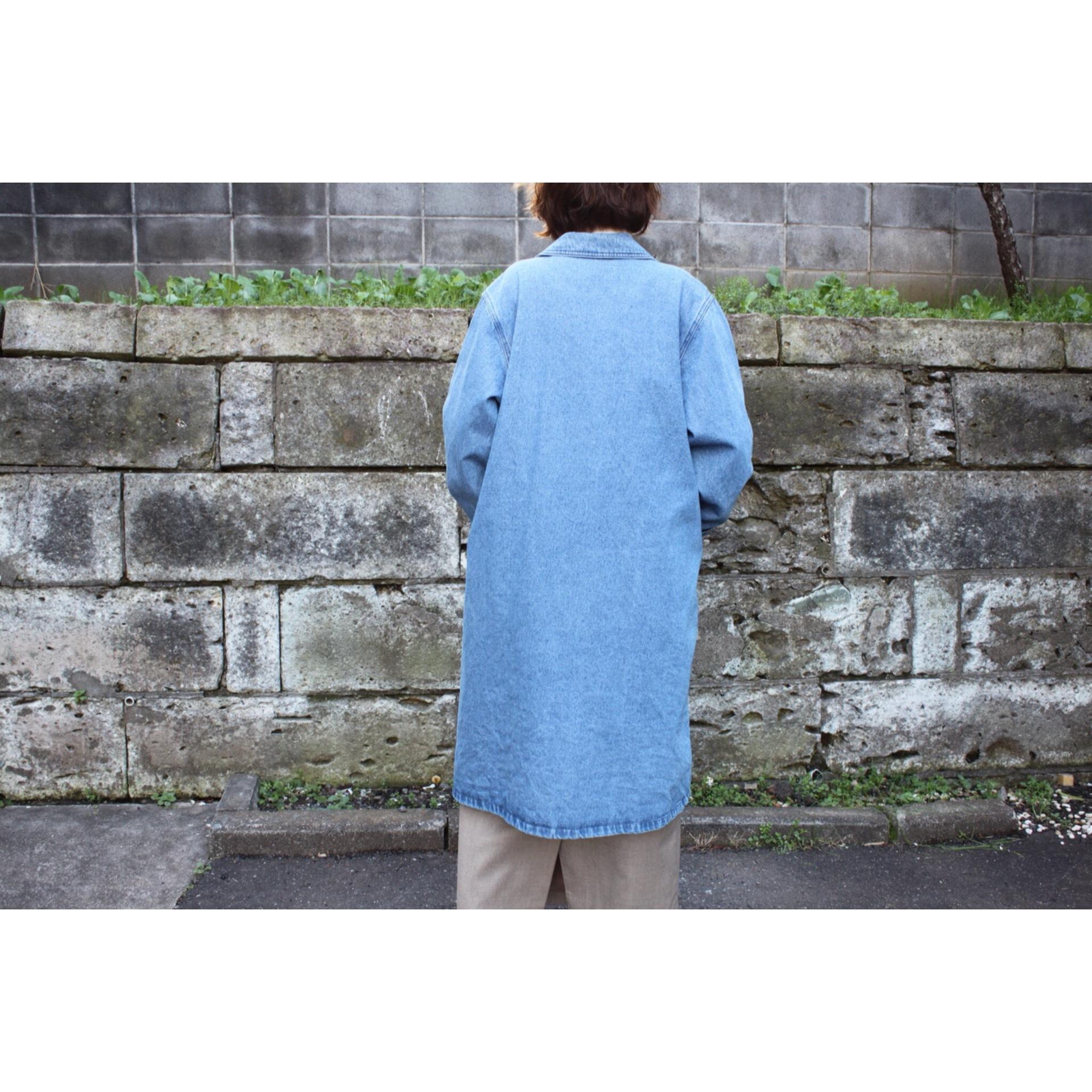 Vintage denim chester coat