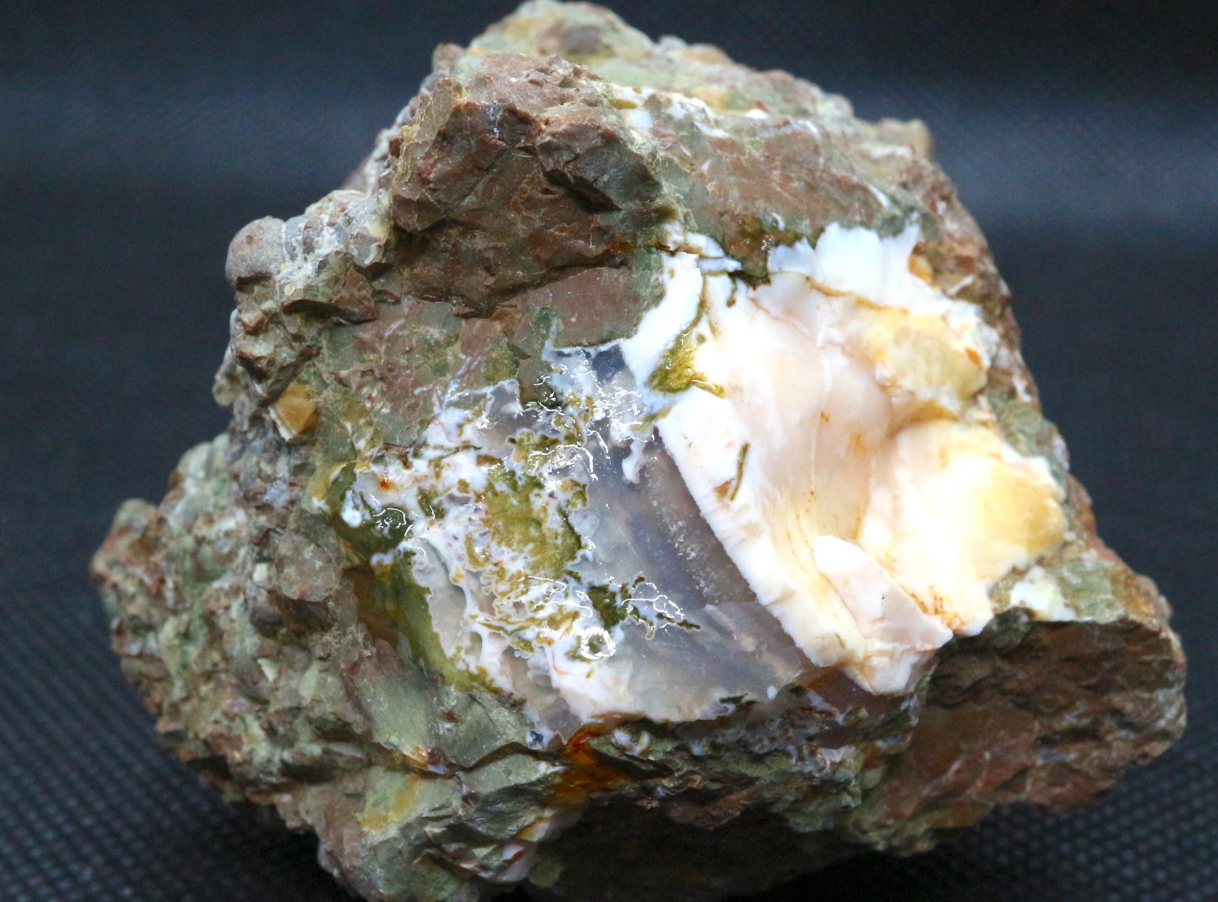 サンダーエッグ  瑪瑙 原石 236g THE007 天然石 鉱物 パワーストーン
