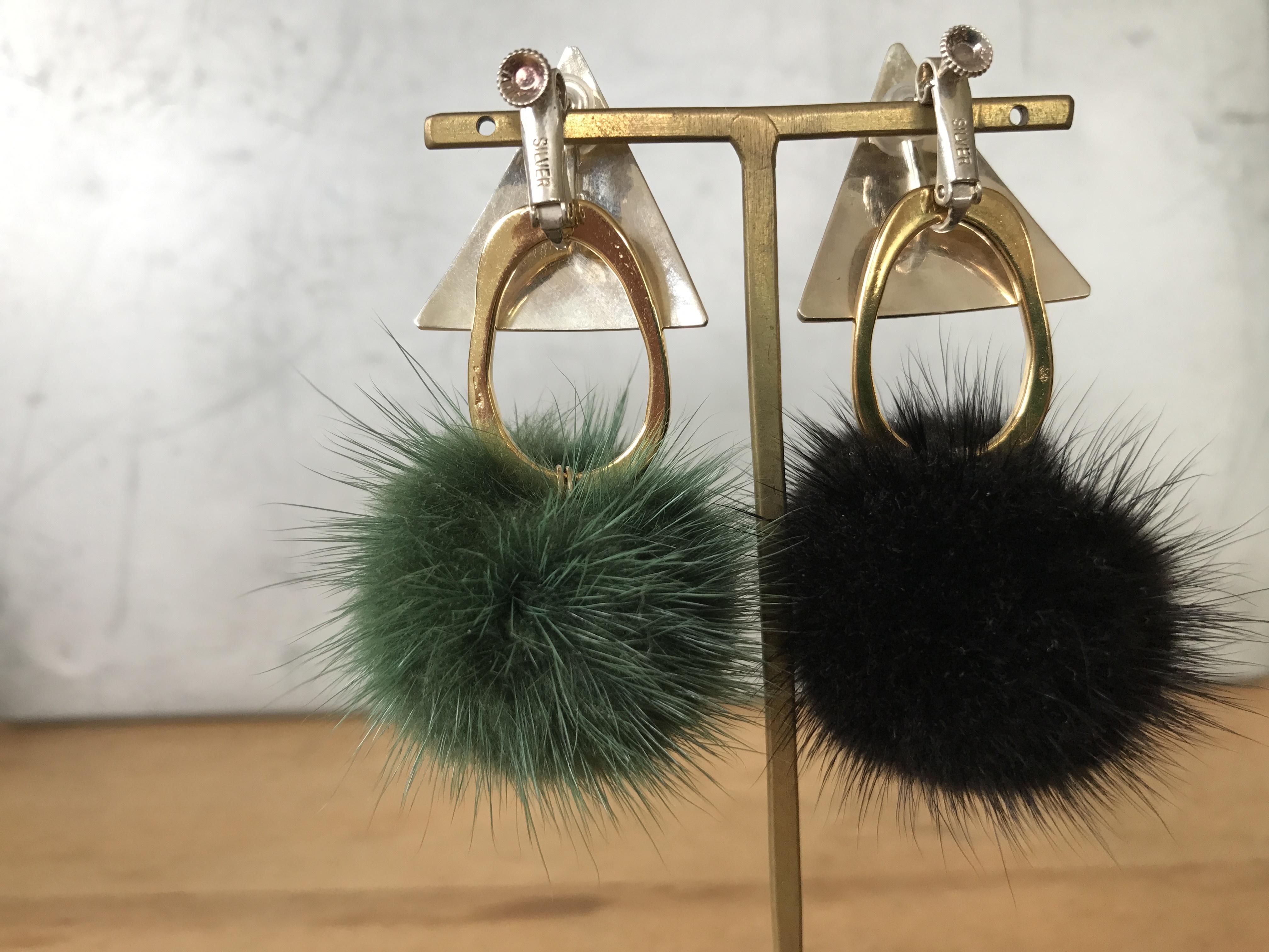 《sale》SV925pearl_mink/earrings