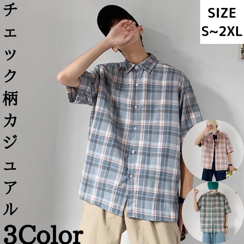 チェック柄 カジュアル オープンカラーシャツ トップス 人気ファッション