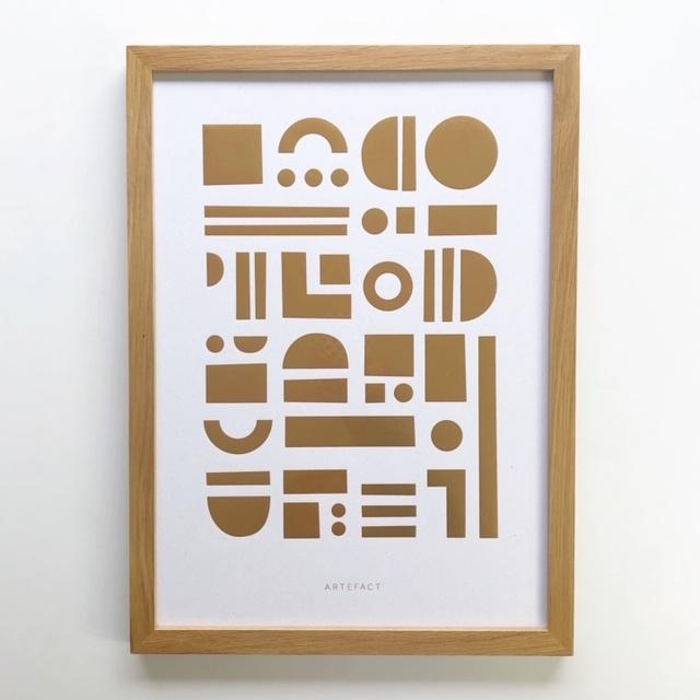 Tom Pigeon -Artefact Copper- トムピジョン A3アートポスター (フレーム付き)