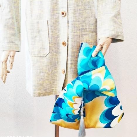 着物リメイク あずま袋、バンブーバッグ、日傘等
