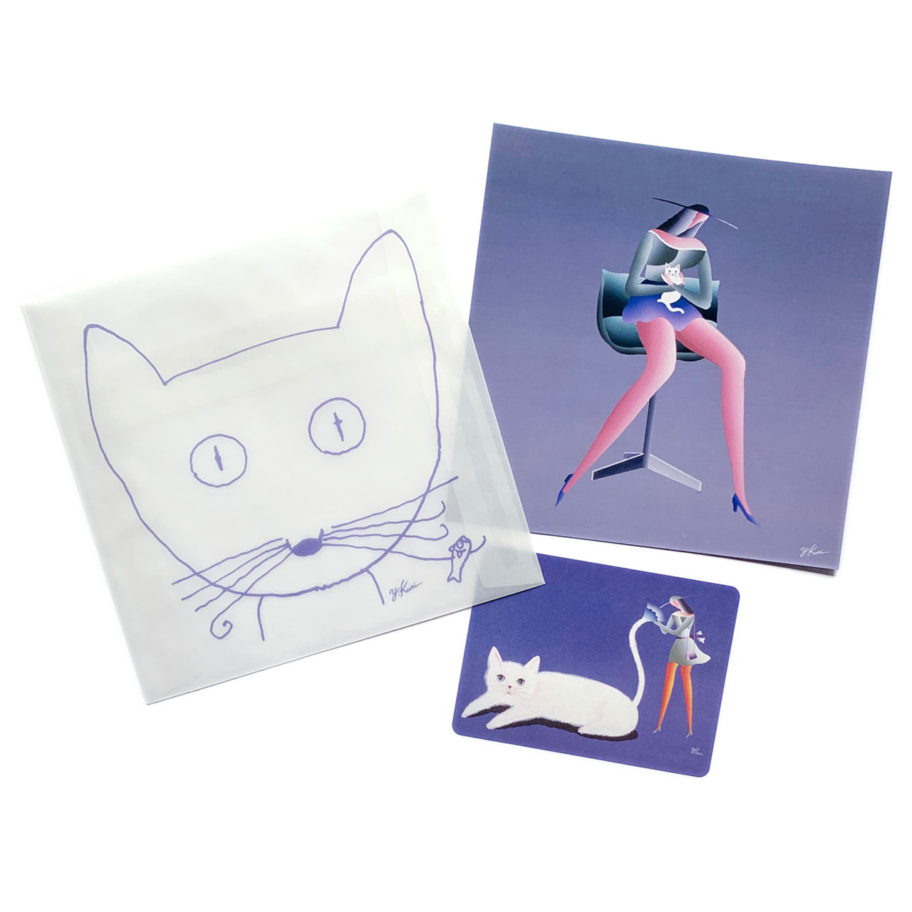 ジュリアンヌの白猫 カード&封筒セット