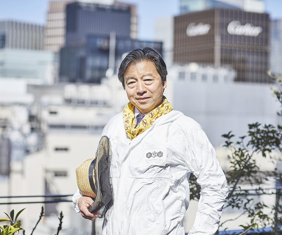 NPO法人<br>銀座ミツバチプロジェクト<br>代表 田中淳夫